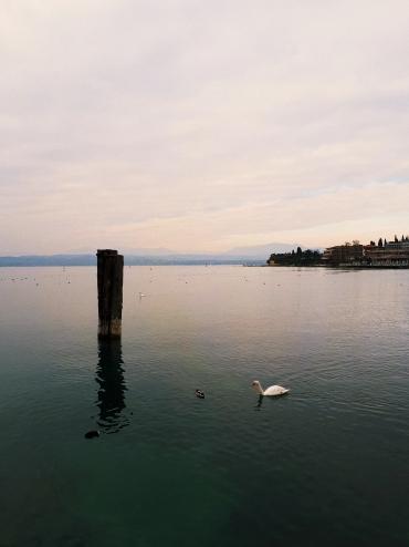 Lago Garda en invierno.